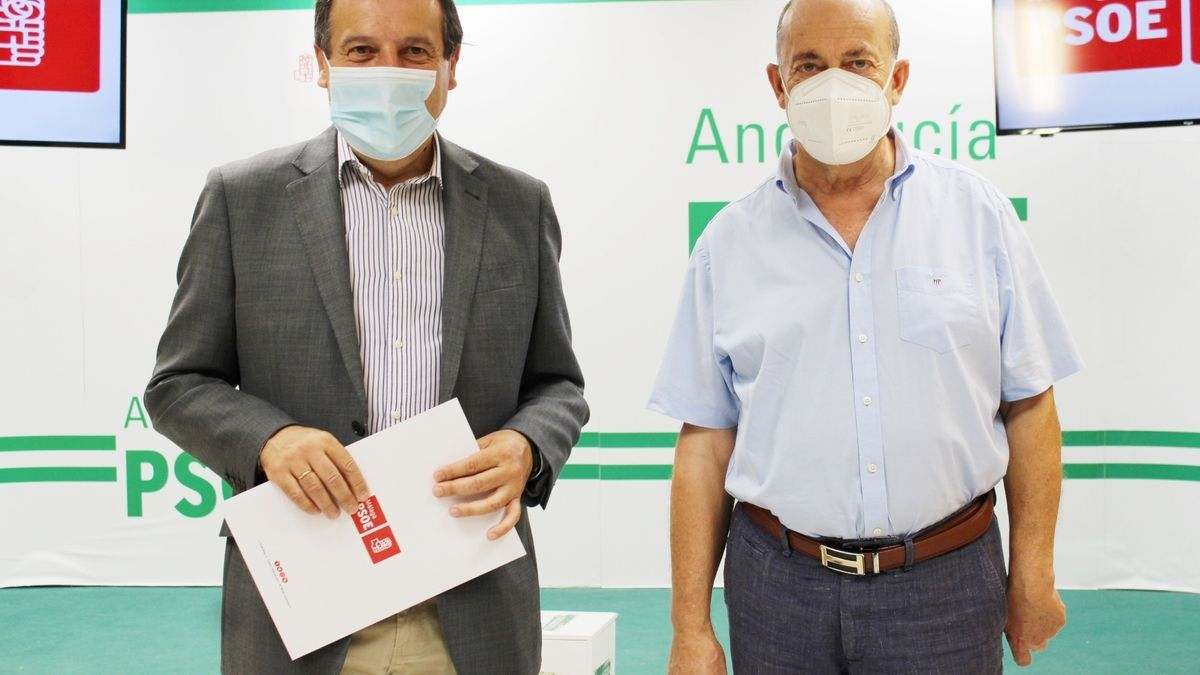 Ruiz Espejo y Francisco Ariza, del PSOE de Málaga