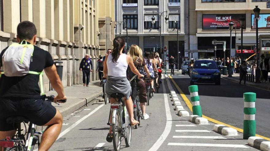 Los desplazamientos diarios en bicicleta o patinete por las diferentes zonas de València