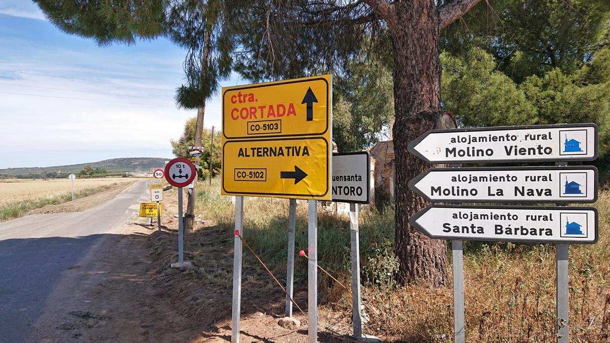 Inicio de las obras de mejora de la carretera de la Fuensanta.