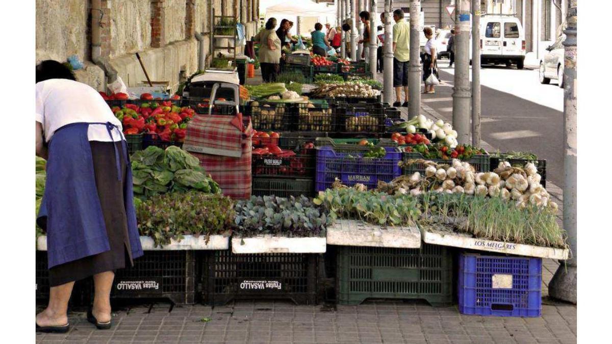 El mercado de abastos de Zamora, una de las fotografías tomadas por Luis F. Guerrero.