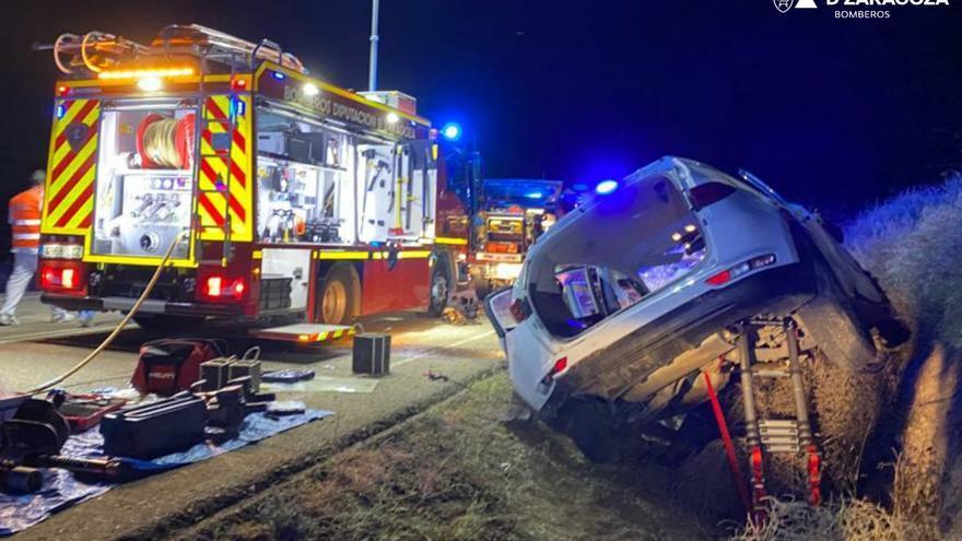 Herido en un accidente de tráfico entre Chiprana y Escatrón