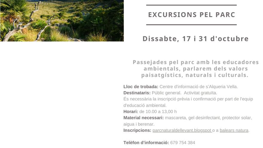 Excursions per Parc Natural de la Península de Llevant