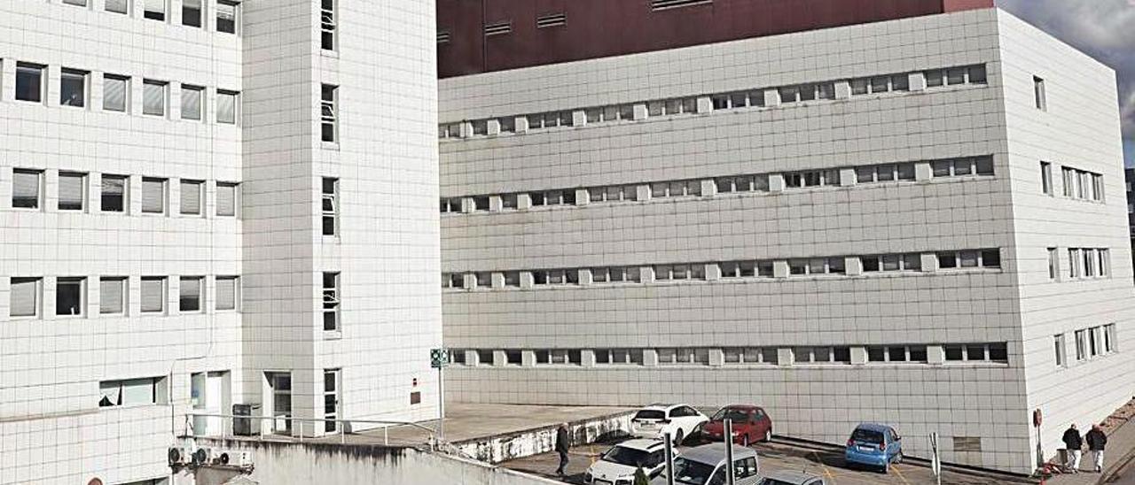 La fachada posterior del Hospital San Agustín. | Mara Villamuza
