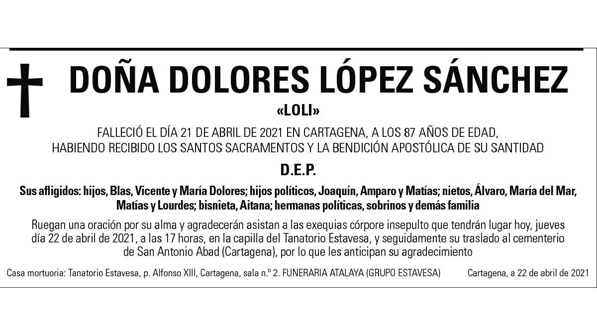 Dª Dolores López Sánchez