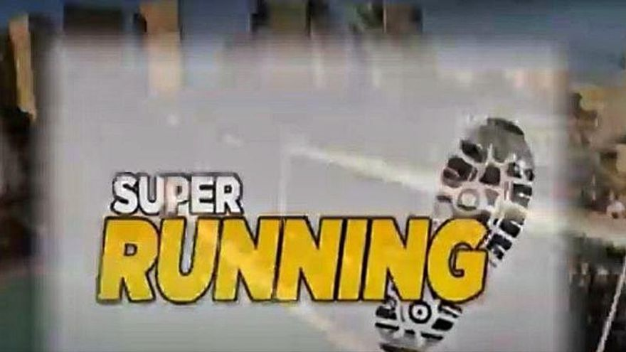 David Cantero corta la cinta en Super Running