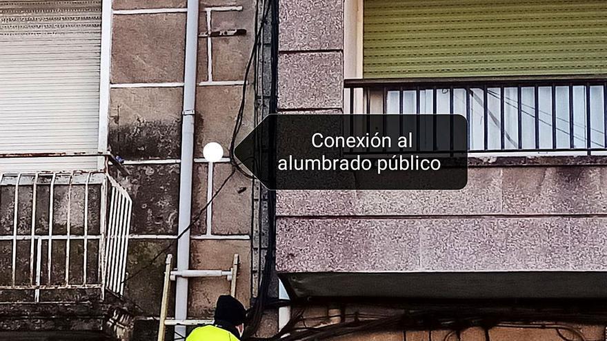 Un enganche ilegal de un okupa, causa de las averías de luz en Concepción Arenal