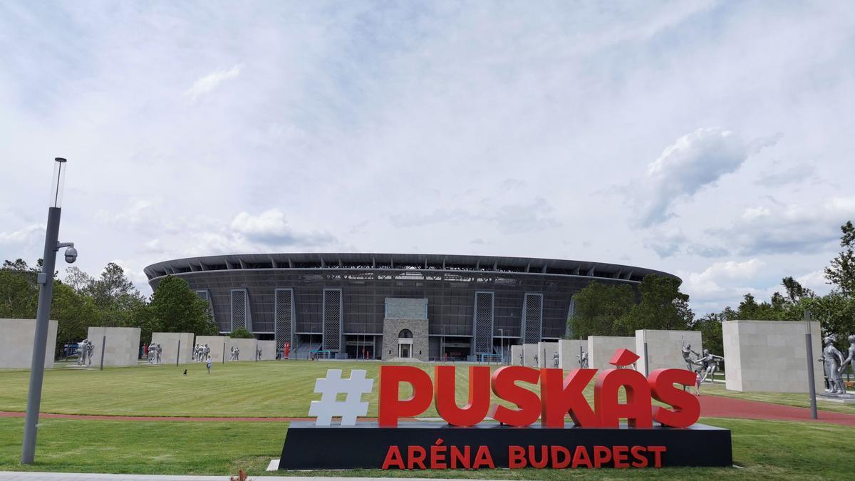 Puskás Aréna de Budapest, la única sede de la Eurocopa que tendrá las gradas llenas.