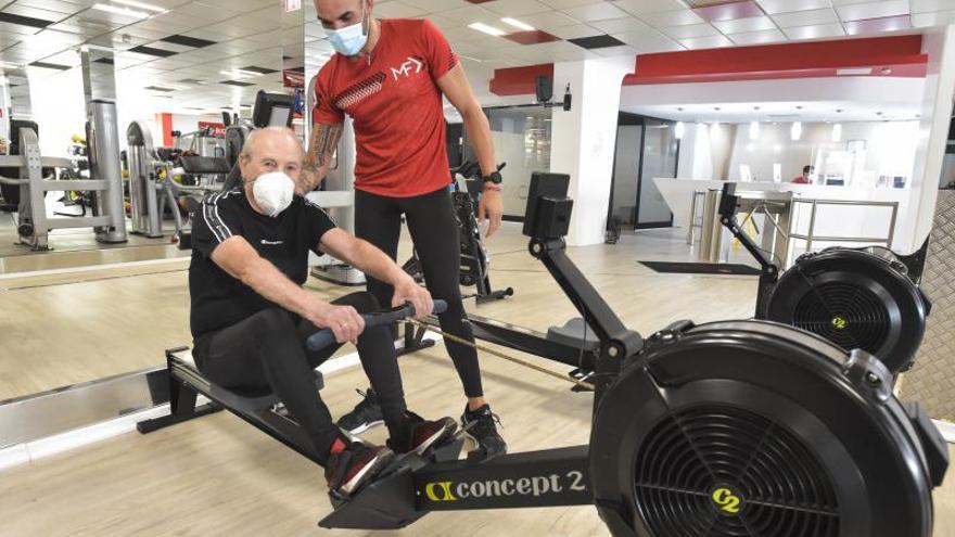 Francisco López Torregrosa, cuatro décadas yendo al gimnasio