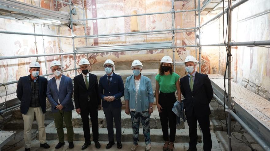 La Junta e Iberdrola recuperan las pinturas murales de la ermita de Muga de Sayago