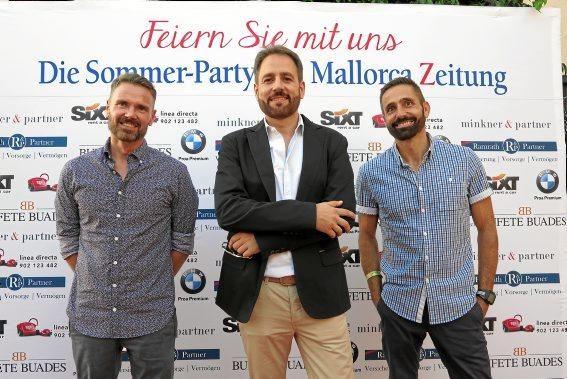 Mauricio Garcia, Fernando de la Puente und Benito Prosper