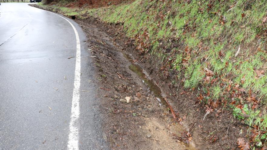 Cerdedo-Cotobade limpia de restos forestales el vial entre Praderrei y Fentáns