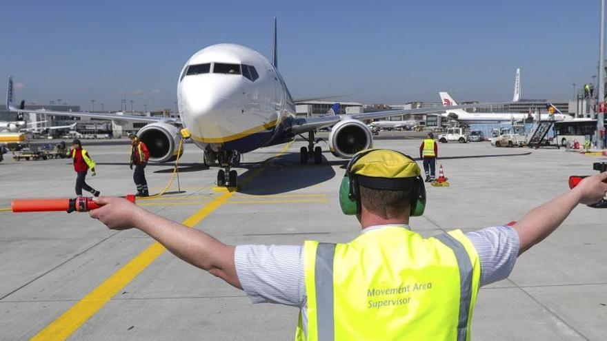 El aeropuerto internacional de Fráncfort.