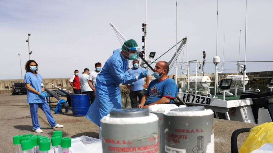 El Principado se adelanta a otras regiones en el control del covid en los barcos pesqueros