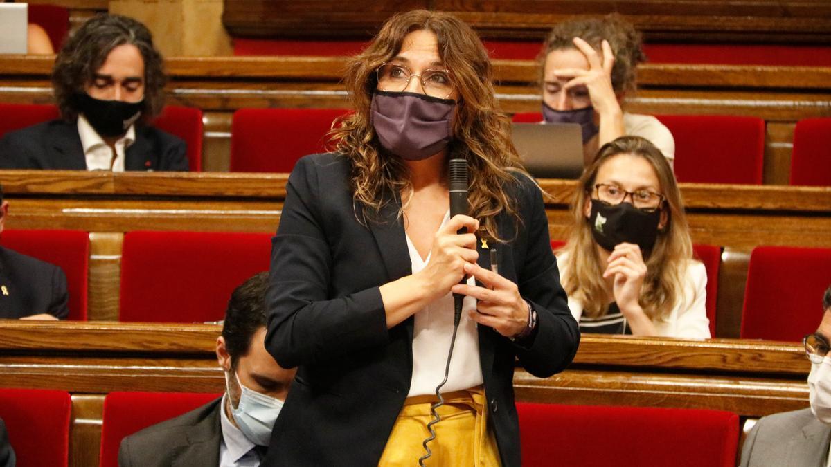 La consellera de Presidència, Laura Vilagrà, durant un ple del Parlament
