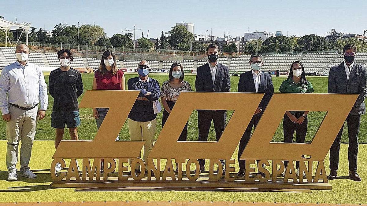 El Campeonato de España de atletismo, que llega a su edición 100, fue presentado ayer en Madrid.