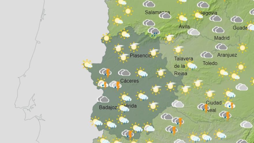Extremadura, en alerta amarilla por lluvias y tormentas desde mañana