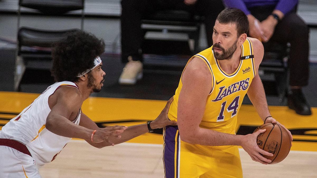 Marc Gasol en el partido con los Lakers