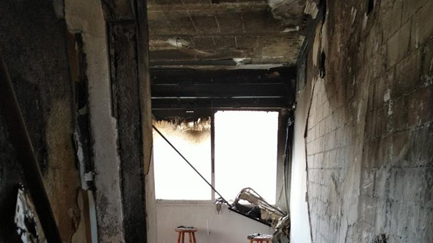 Extinguen un incendio en una vivienda en Alquerías