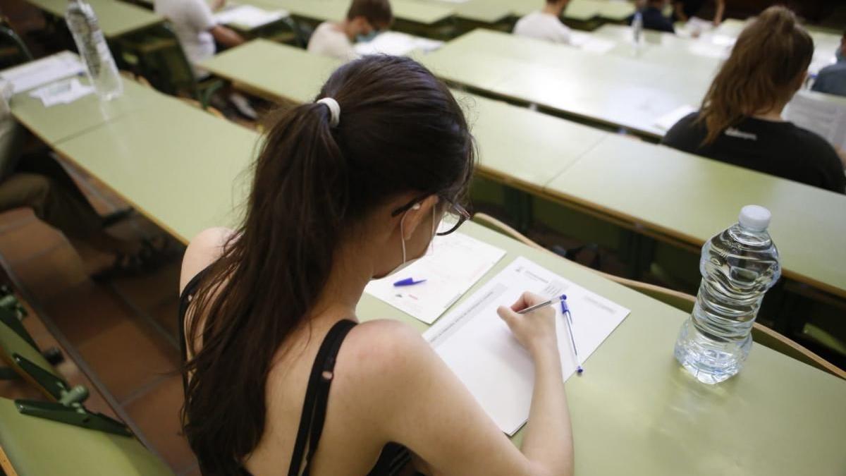 Evaluación para el Acceso a la Universidad del año pasado.
