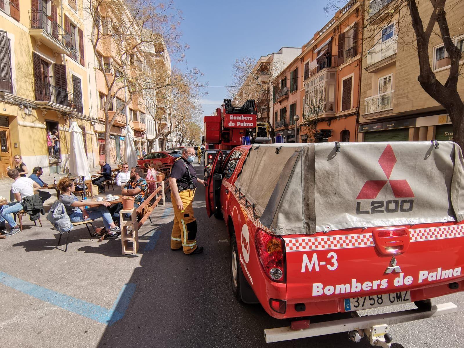 Incendio en una cafetería de la calle Arxiduc, en Palma
