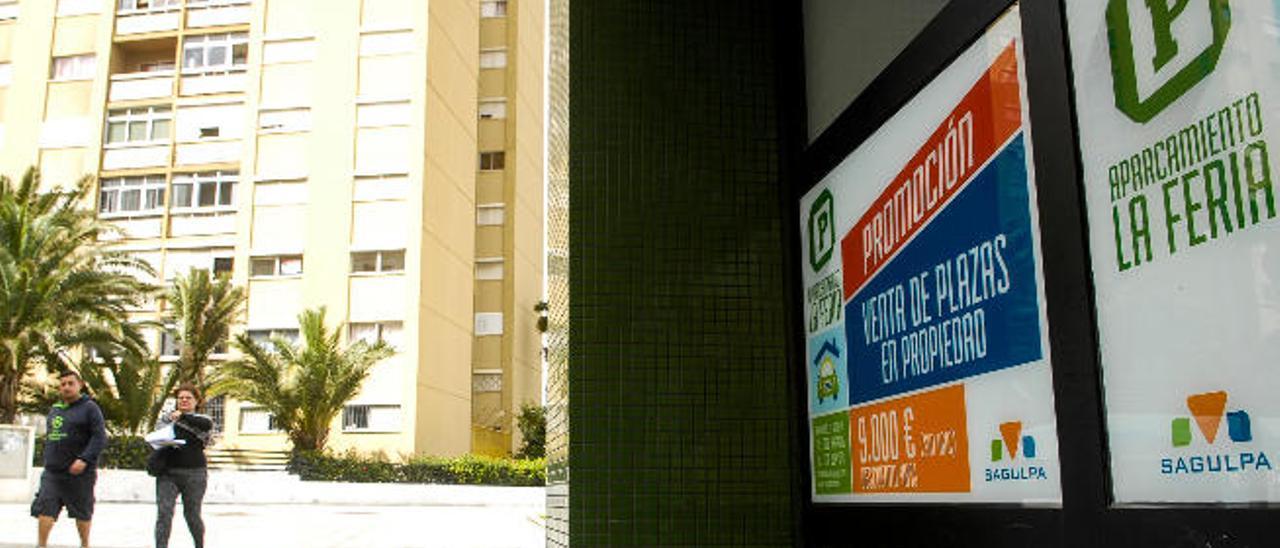 Fracasa la venta a bajo precio de plazas de garaje en La Feria y Casablanca III