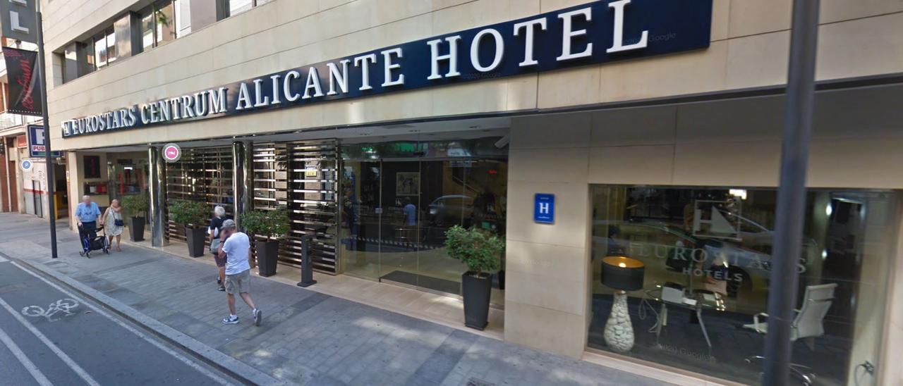 Captura de la fachada del hotel desde Google Maps