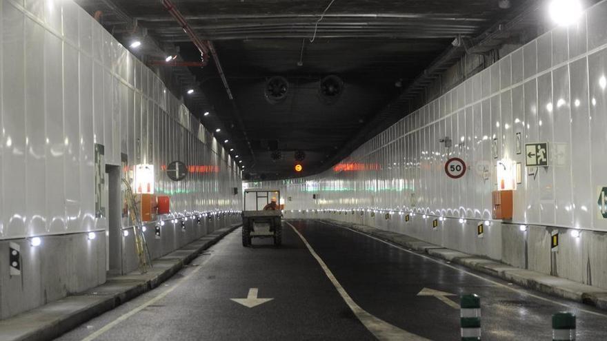 El túnel de la Marina se cerrará de noche al tráfico la próxima semana