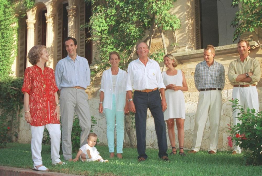 El paso de la Familia Real en Mallorca