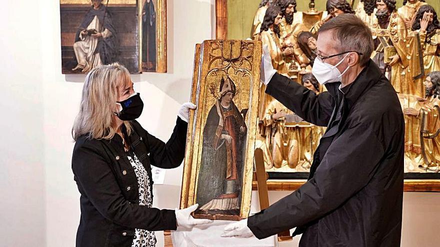 Recuperan una tabla del siglo XV quemada en la catedral en 1936