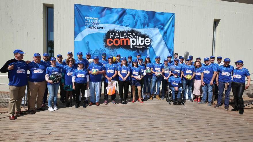 22 clubes de alto nivel entran en el Plan Málaga Compite