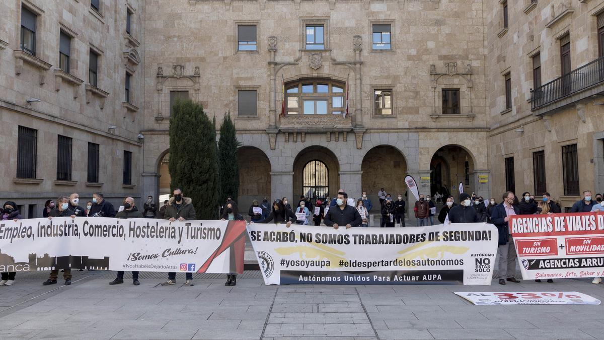 Movilización convocada en febrero en Salamanca por la Unión de Asociaciones Libres y Asociación Autónomos Unidos para Actuar.