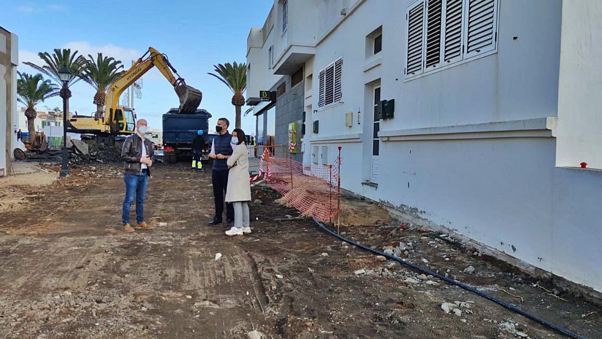 Mejora de calles en San Bartolomé