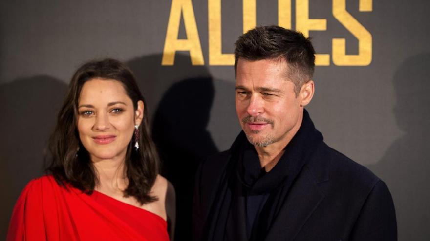 """Brad Pitt y Marion Cotillard, juntos en Madrid para presentar """"Aliados"""""""