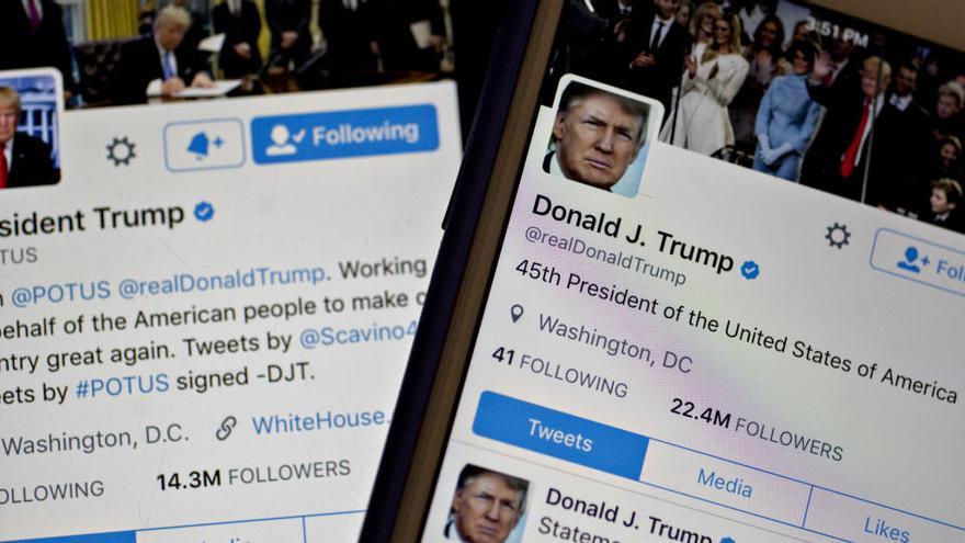 """Trump reconoce que """"a menudo"""" se arrepiente de sus mensajes en Twitter"""
