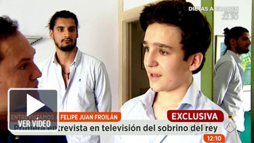 Froilán concede a  'Espejo Público' su primera entrevista en televisión