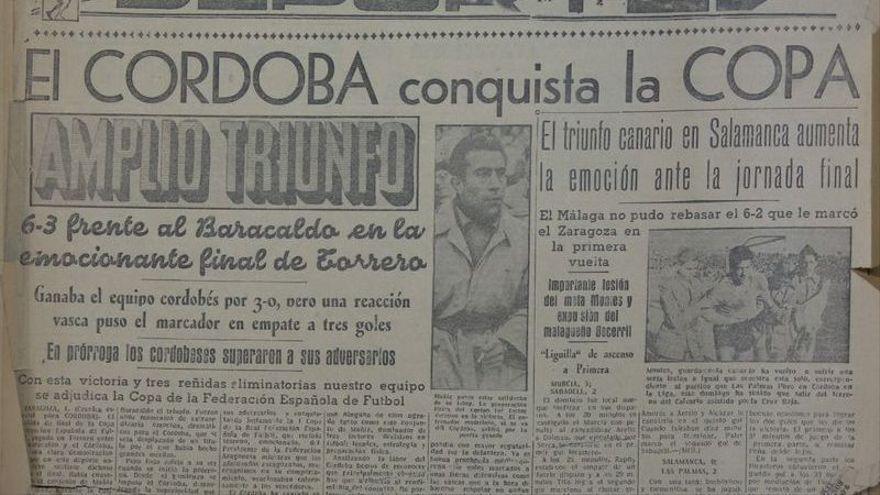 El Córdoba CF y su 'precedente' en la Copa Federación: mismo rival, 70 años después