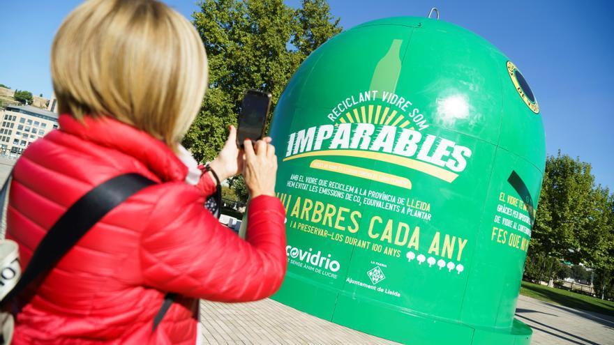 El mayor contenedor de reciclaje de vidrio del mundo está en Lleida