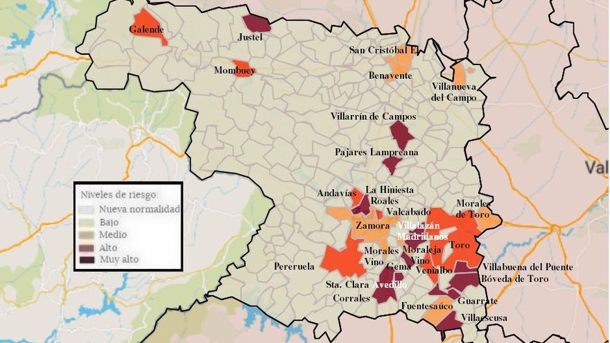 Mapa de coronavirus de Zamora, hoy, lunes | El virus, de nuevo en Moraleja del Vino