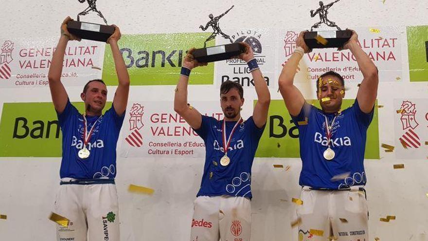 Vila-real también triunfa en los 'trinquets' con su victoria en la Lliga Bankia d'Escala i Corda