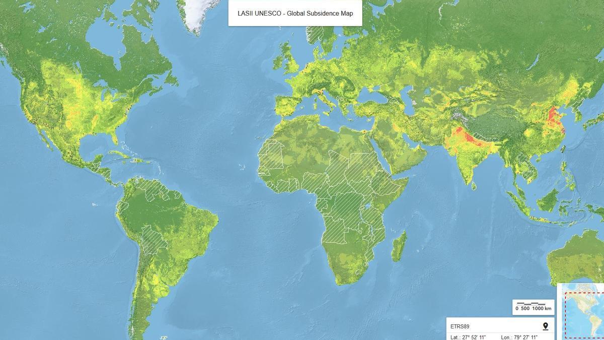 Mapa mundial de subsidencia