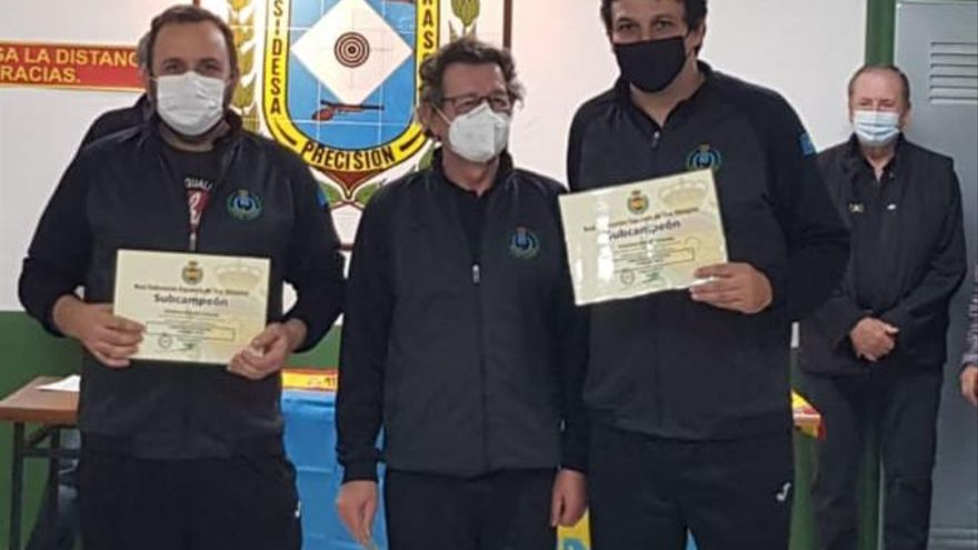 Asturias, subcampeona de España de tiro olímpico en carabina BR-50, en Trasona (Corvera)