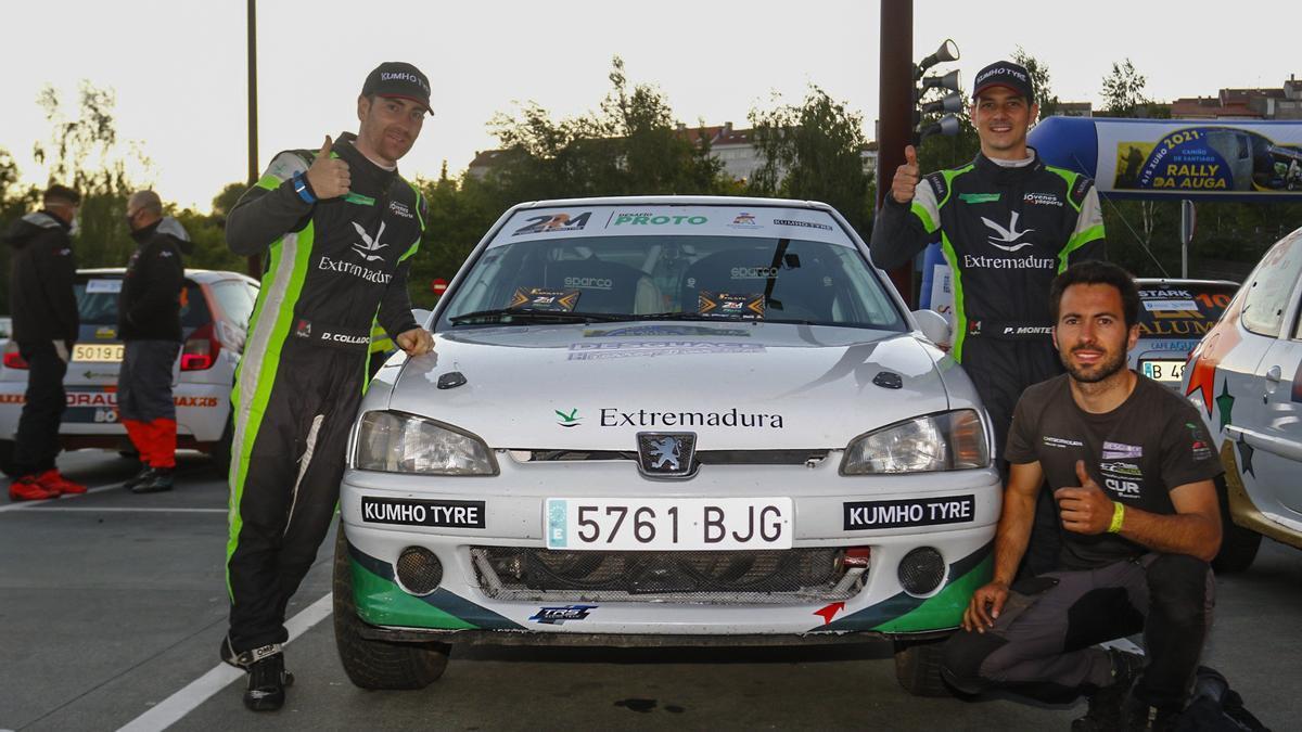 El Extremadura Rally Team en el Rally da Auga.