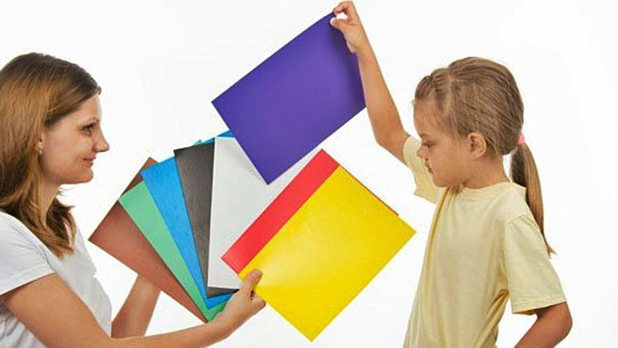 Enseñar los colores a los niños daltónicos