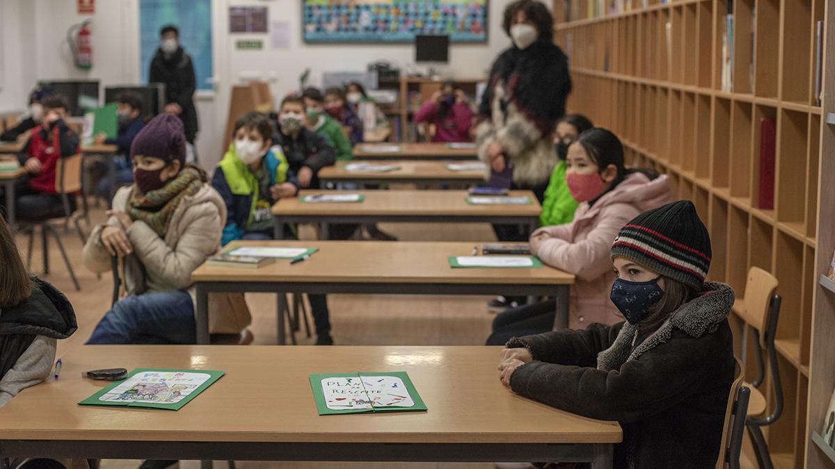 Actividad escolar en el colegio Mestre Vide de Ourense.