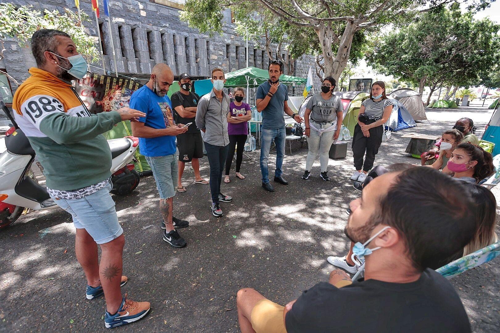 Asamblea de los campistas para informar reunión Visocan