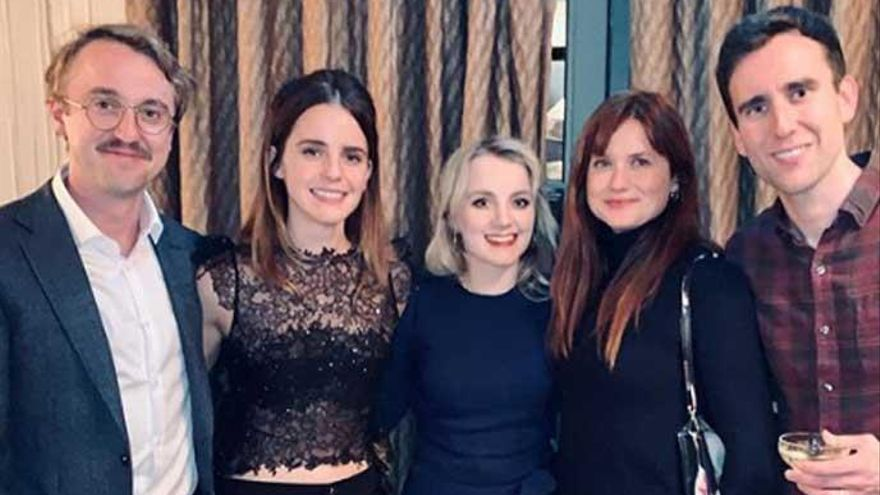 Emma Watson celebra la Navidad junto a sus compañeros de 'Harry Potter'