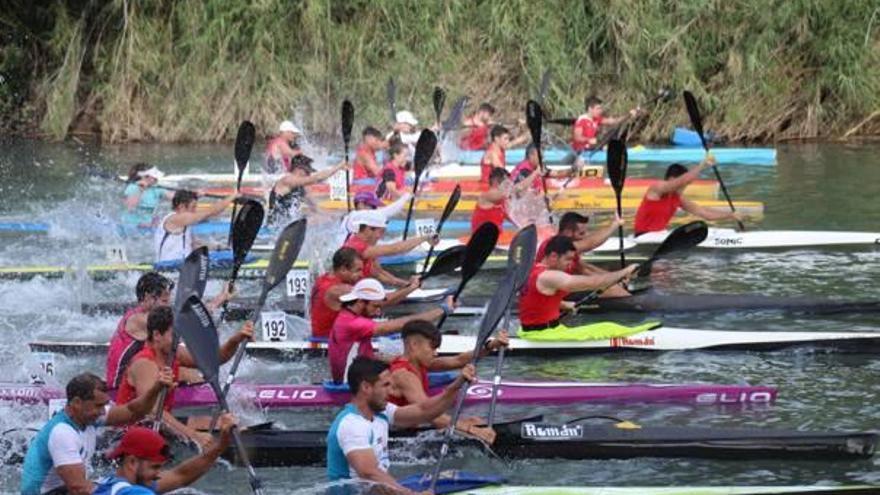 Los palistas ribereños copan los podios en la Davallada del Xúquer