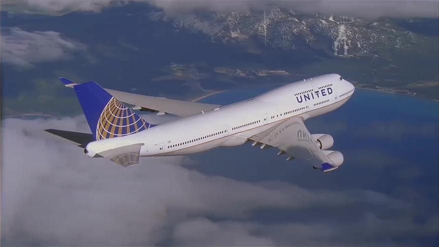 Avión de United Airlines, que conectará Nueva York con Canarias la próxima primavera