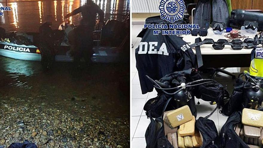 Caen dos 'narcobuzos' en Avilés que pretendían introducir droga por A Coruña