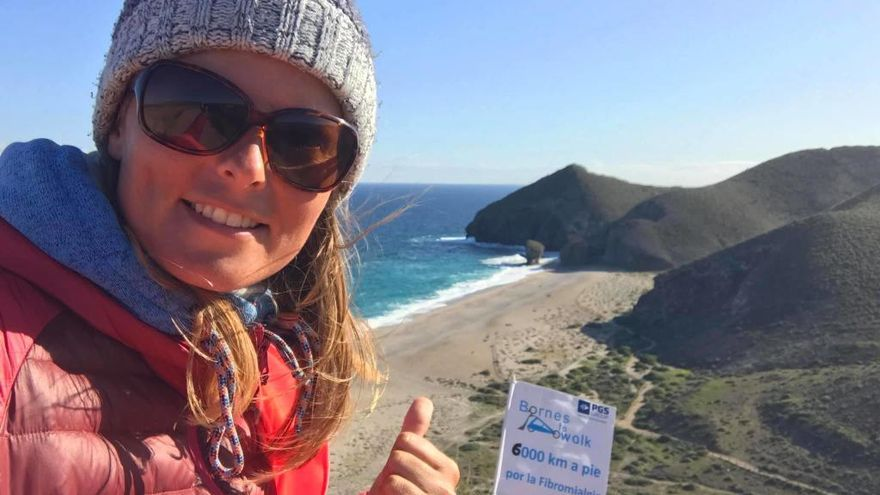 Camina 6.000 kilómetros para aliviar el dolor de la fibromialgia